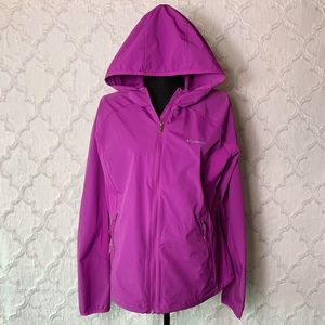 Columbia Purple Hooded Rain Jacket